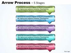 Marketing Diagram Arrow Boxes 5 Steps Sales Diagram