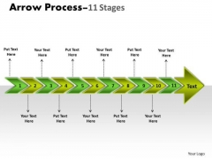 Marketing Diagram Arrow Process 11 Stages Sales Diagram