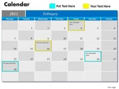 Marketing Diagram Blue Calendar 2011 Consulting Diagram