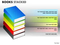 Marketing Diagram Books Stacked Business Diagram
