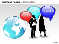 Marketing Diagram Business People Silhouettes Business Cycle Diagram