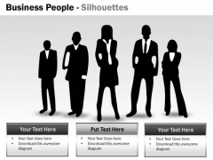 Marketing Diagram Business People Silhouettes Strategic Management