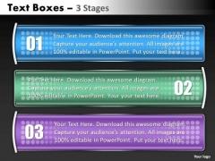 Marketing Diagram Business Textbox 3 Steps Sales Diagram