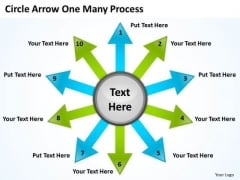 Marketing Diagram Circle Arrow One Many Process Consulting Diagram