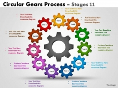 Marketing Diagram Circular Gears Process Stages 11 Consulting Diagram