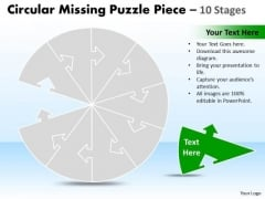 Marketing Diagram Circular Missing Puzzle Piece 10 Stages Consulting Diagram