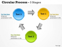 Marketing Diagram Circular Process 3 Stages Consulting Diagram