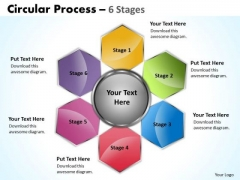 Marketing Diagram Circular Process 6 Stages Strategy Diagram