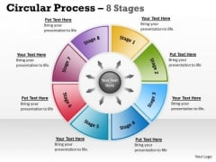Marketing Diagram Circular Process 8 Stages Strategy Diagram