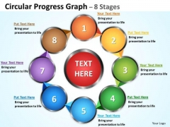 Marketing Diagram Circular Progress Diagrams Graph 8 Stages Strategy Diagram
