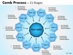 Marketing Diagram Comb Process 11 Stages Business Diagram