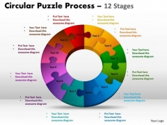 Marketing Diagram Components Circular Puzzle Process Business Cycle Diagram
