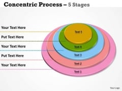 Marketing Diagram Concentric Process With Multicolors Business Diagram