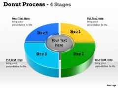 Marketing Diagram Donut Process Step Business Diagram