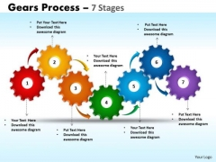 Marketing Diagram Gears Process 7 Stages Consulting Diagram