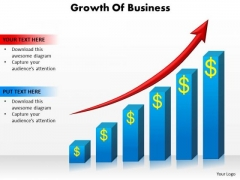 Marketing Diagram Growth Of Business Sales Diagram