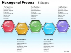 Marketing Diagram Hexagonal Process 5 Stages Consulting Diagram