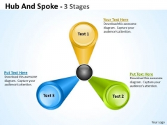 Marketing Diagram Hub And Spoke 3 Stages Sales Diagram