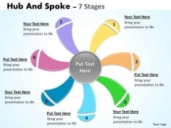 Marketing Diagram Hub And Spoke 7 Stages Business Diagram
