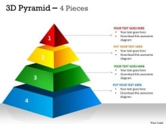 Marketing Diagram Independent 4 Staged 3d Pyramid Consulting Diagram