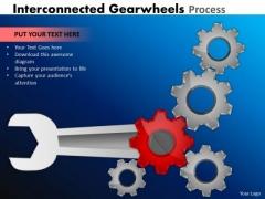 Marketing Diagram Interconnected Gearwheels Process Business Diagram