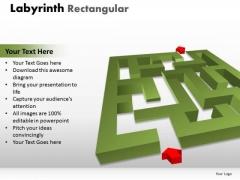 Marketing Diagram Labyrinth Rectangular Business Diagram