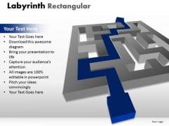 Marketing Diagram Labyrinth Rectangular Business Finance Strategy Development