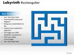 Marketing Diagram Labyrinth Rectangular Ppt Blue Modal Sales Diagram