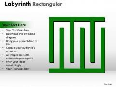Marketing Diagram Labyrinth Rectangular Ppt Green Modal Business Finance Strategy Development
