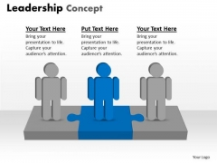Marketing Diagram Leadership Concept 3 Stages Business Framework Model
