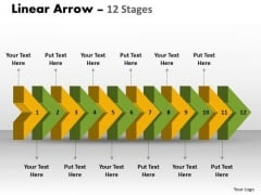Marketing Diagram Linear Arrow 12 Stages 2 Sales Diagram