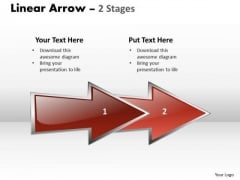 Marketing Diagram Linear Arrow 2 Stages