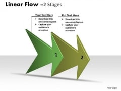 Marketing Diagram Linear Arrow Process 2 Stages