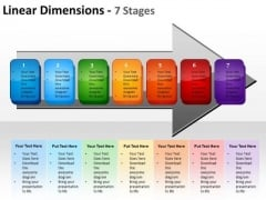 Marketing Diagram Linear Dimensions 7 Stages Sales Diagram