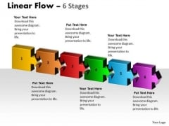 Marketing Diagram Linear Flow 6 Stages Consulting Diagram