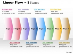 Marketing Diagram Linear Flow 8 Stages Strategic Management