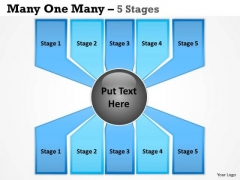 Marketing Diagram Many One Many Process 5 Stages Consulting Diagram