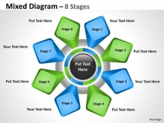 Marketing Diagram Mixed Diagram With 8 Stages For Business Consulting Diagram