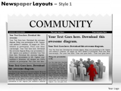 Marketing Diagram Newspaper Layouts Style Consulting Diagram