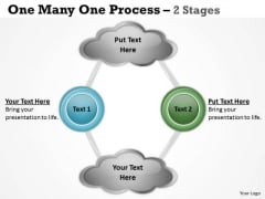 Marketing Diagram One Many One Process 2 Stages Sales Diagram
