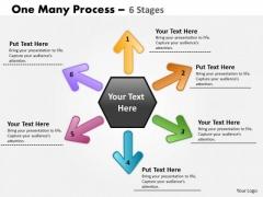 Marketing Diagram One Many Process 6 Stage Business Framework Model