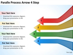Marketing Diagram Paralle Process Arrow 4 Step Strategy Diagram