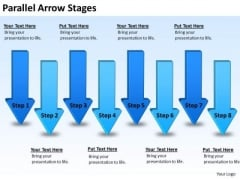 Marketing Diagram Parallel Arrow Stages Strategy Diagram