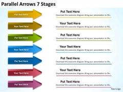 Marketing Diagram Parallel Arrows 7 Stages Sales Diagram
