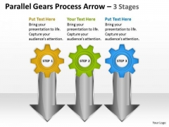 Marketing Diagram Parallel Gears Process Arrow 3 Stages Consulting Diagram