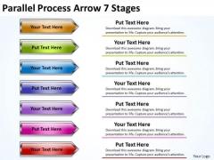 Marketing Diagram Parallel Process Arrow 7 Stages Sales Diagram