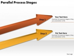 Marketing Diagram Parallel Process Stages Business Diagram