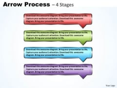 Marketing Diagram Rectangle Arrow 4 Steps Strategy Diagram