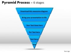 Marketing Diagram Reverse Pyramid Process Diagram 6 Stages Sales Diagram