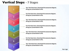 Marketing Diagram Sales Process Vertical Steps With 7 Stages Business Diagram